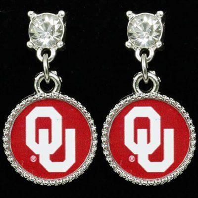 Oklahoma Sooners Crystal Dangle Earrings