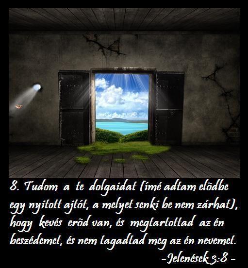 Jelenések 3:8,