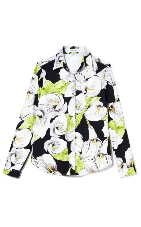 Tailored Calla Lilly Shirt by Isolda - Moda Operandi