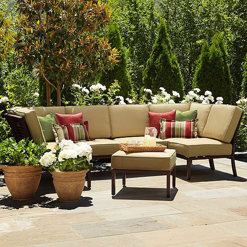 Best Shutter 7 Piece Outdoor Sectional Sofa Seats 6 Screened 400 x 300