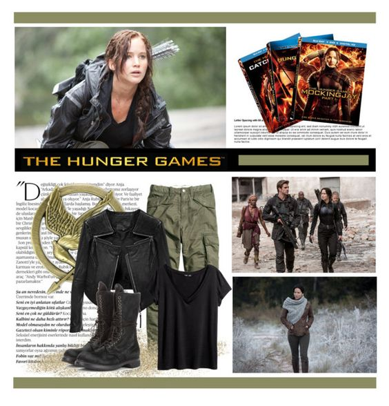 """Hunger Games Style"" by alyssumfield ❤ liked on Polyvore featuring Balmain, Linea Pelle, Rick Owens, H&M, Hungergames and contestentry"