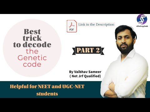 Genetic Code Tricks Without Using Any Mnemonics Part 2 Molecular Basis Of Inheritance Class 12 Youtube Learn Biology Genetic Code Coding
