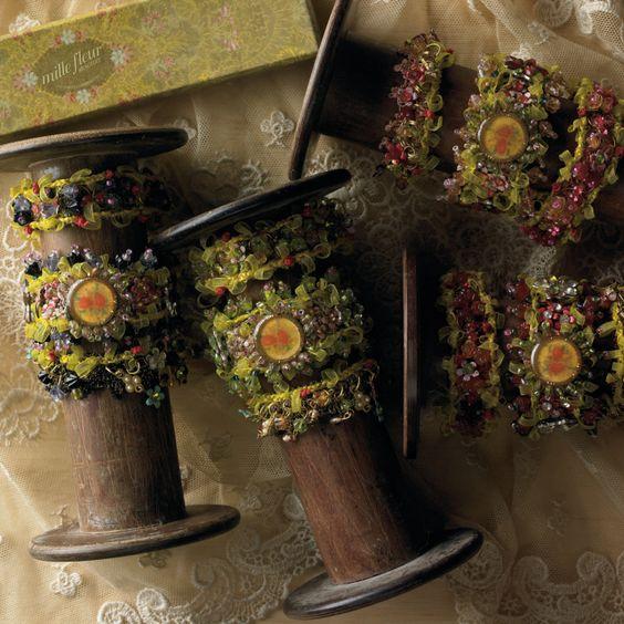 Mille Fleur Bracelet w/3 Styles and Asst 4 Colors © Twos Company