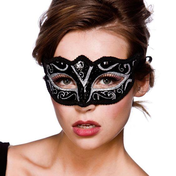 Verona Augenmaske schwarz-silber