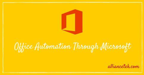 Office Automation Through Microsoft.. http://bit.ly/1Hyq2zD