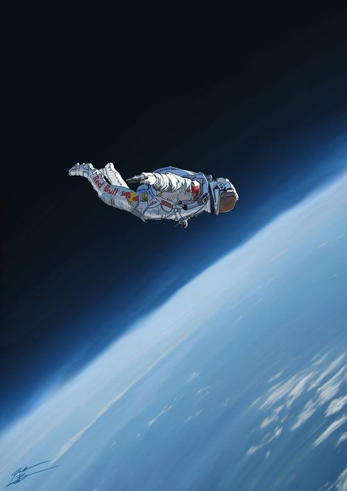 jumping astronaut in space - photo #3