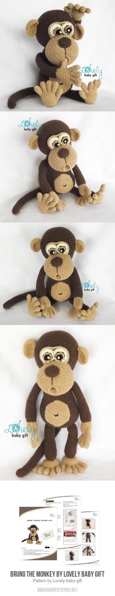 Bruno The Monkey Amigurumi Pattern By Lovely Baby Gift
