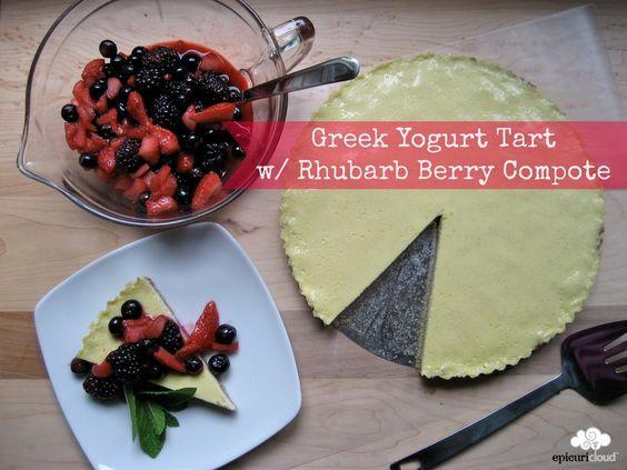 berry compote tarts greek yogurt crusts dessert ideas berries yogurt ...