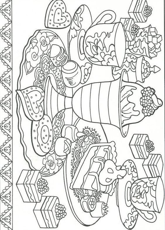 Desserts coloring pages pinterest postres - Dessert dessin ...