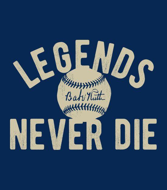 """""""Legends Never Die"""" blue t-shirt"""