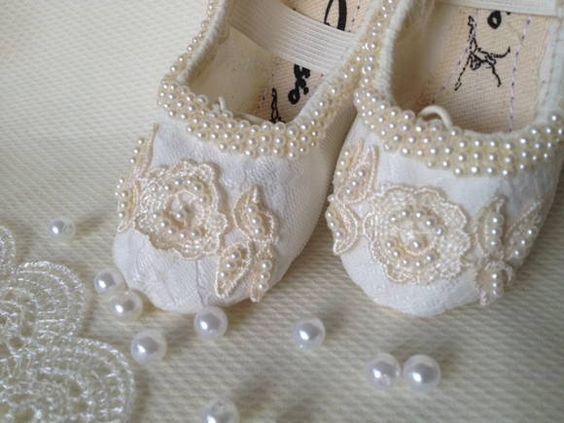 Sapatilha de Princesa Luxo Marfim