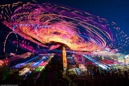 Clark County Fair, light trails at night 70+Examples of Beautiful Night Photography