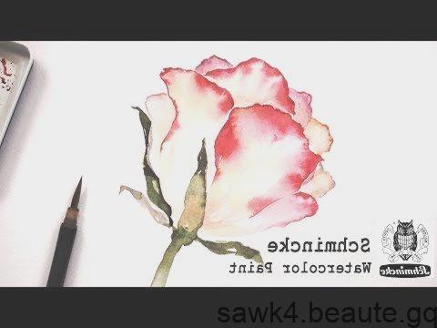 Comment Peindre Une Rose A L Aquarelle Set Peinture Aquarelle