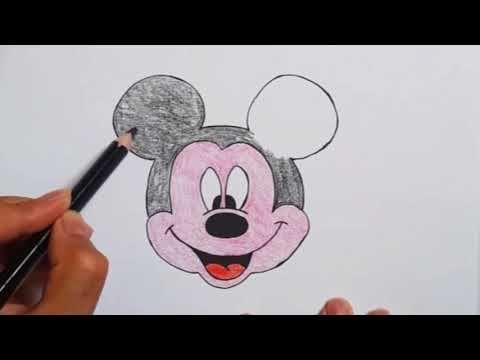 رسم سهل رسم ميكي ماوس بطريقة سهلة تعليم الرسم للاطفال رسومات بالرصاص تعلم الرسم Youtube Popsockets Electronic Products