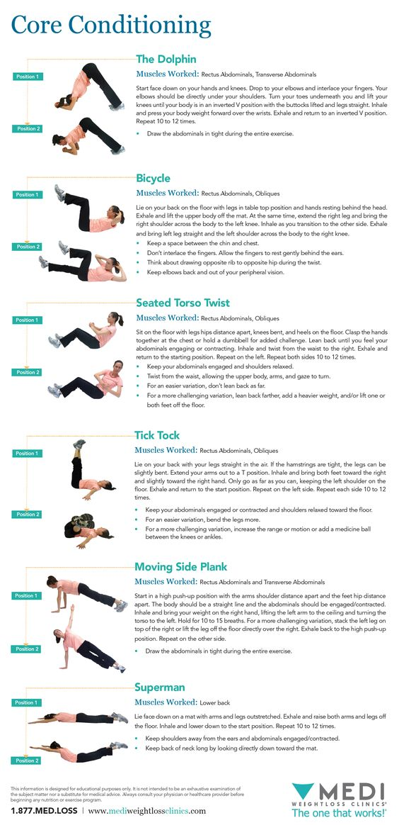 Summer Ab Workout! Here are six intermediate ab exercises to condition your core!