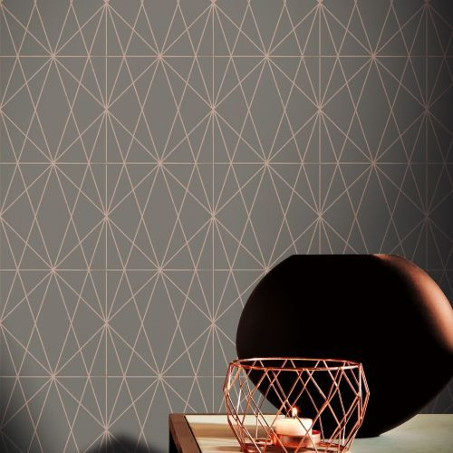 Debona Wallcoverings Juniper 3D Silver Grey Metallic Geometric Effect Retro 6160