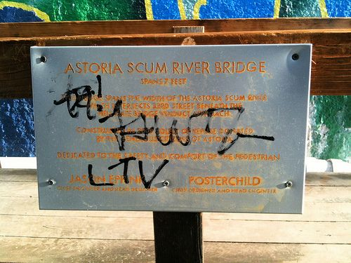 (Posted from rapidprototypechina.com) Check out these rapid prototype cost images: the Astoria Scum River Bridge plaque got tagged  Image by jasoneppink I was heading to clean it up this morning, but Amtrak was already fixing Astoria Scum River! Hey LTV Squad – we run in the same circles.  I was hoping you'd have a... Read more on http://www.rapidprototypechina.com/cool-fast-prototype-expense-images-2/