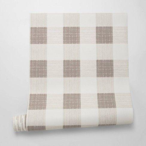 Large Gingham Wallpaper Plaid Threshold Striped Wallpaper Peel Off Wallpaper Peel And Stick Wallpaper