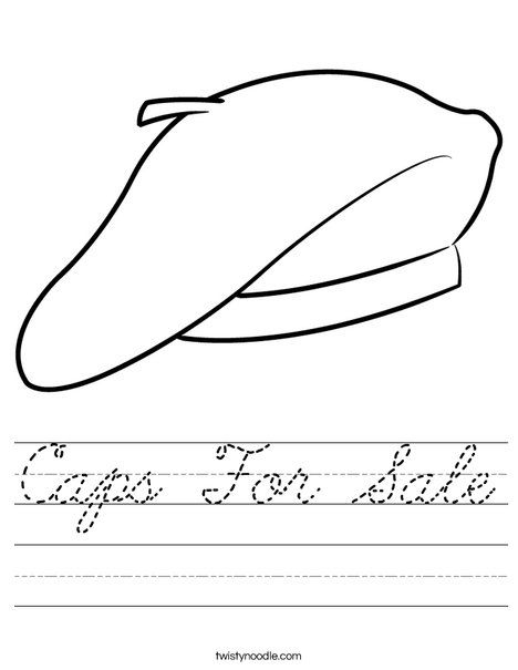 beret worksheet caps for sale school theme pinterest worksheets for sale and berets. Black Bedroom Furniture Sets. Home Design Ideas