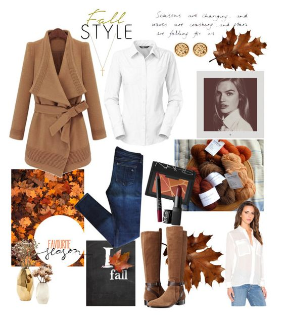 """Falling for Us..."" by emily-cowan on Polyvore featuring rag & bone, Via Spiga, The North Face, American Vintage, Nate Berkus, NARS Cosmetics and Gucci"