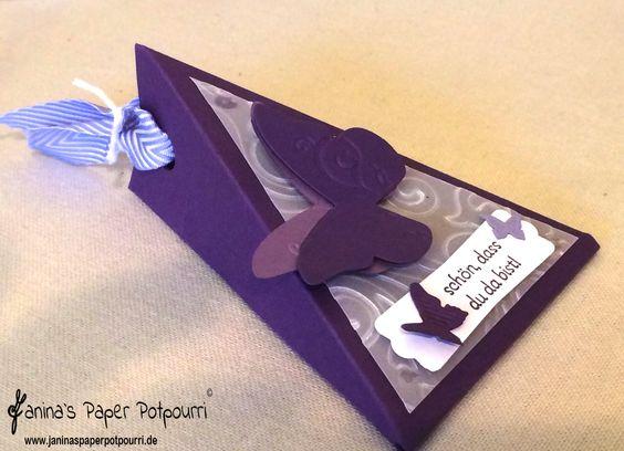 lila Schmetterlings Hochzeit Gastgeschenk / purple Butterfly give away ...