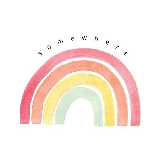 Somewhere Over The Rainbow Wall Art | PRINTABLE | Pastel Art | Nursery Rainbow Art | Rainbow Printab