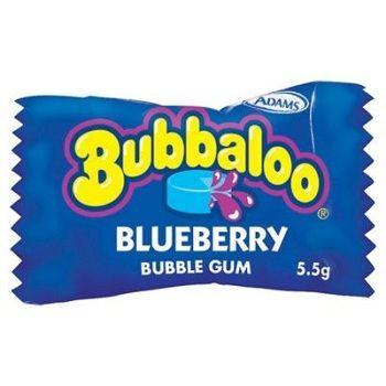 Bubbaloo blueberry bubble gum