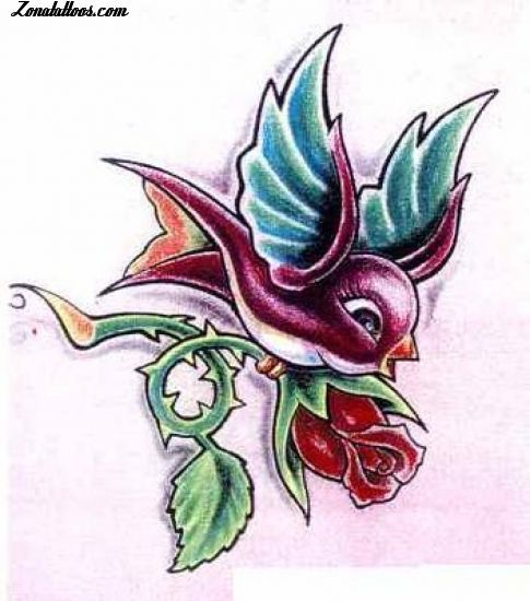 Plantilla/Diseño Tatuaje De FenixTat2  Golondrinas Aves Animales