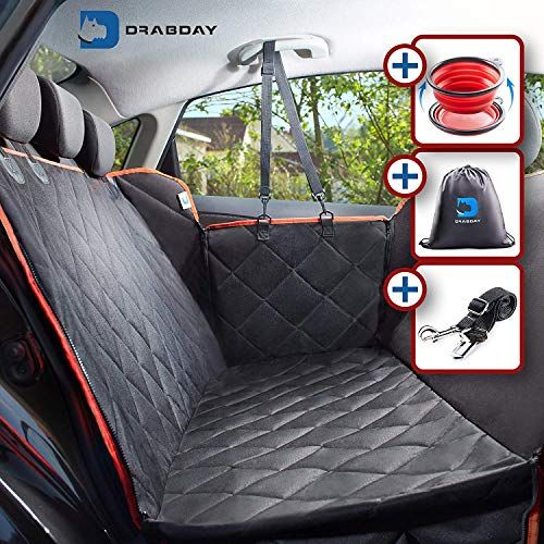 Drabday Dog Car Seat For Backseat Ultra Durable Dog Seat Cover For Back Seat Heavy Duty Non Slip Dog Hammock Waterproof Pet Seat Cover For Dogs Pet Seat Dog Hammock