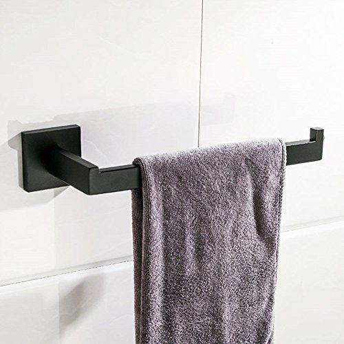 Velimax Modern Black Towel Holder Sus304 Stainless Steel Bathroom Towel Bar Bathroom Holder Towel Bar