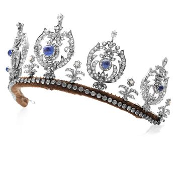Sapphire and Diamond Tiara of Princess Thyra (1880-1945) of Denmark.