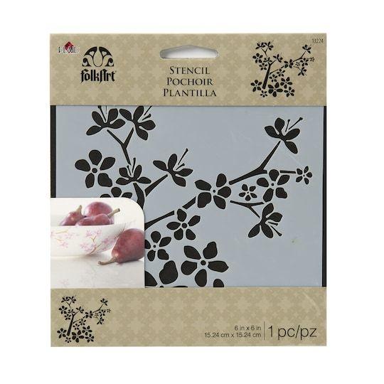 Folkart Laser Stencil Cherry Blossoms By Folk Art Michaels