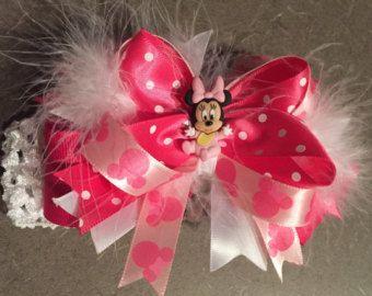 Cupcake Toppers de Minnie Mouse rosa por LollipopParty en Etsy