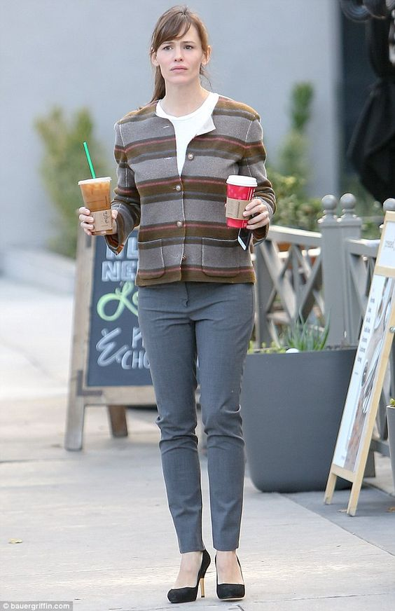 She got the drinks: The Dallas Buyers Club actress wore a winter appropriate ensemble as s...