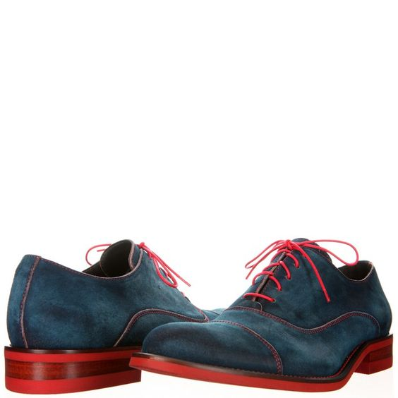 Donald J Pliner makes suede oxfords look like denim without a trace of tackiness.