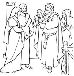 Jesus and simeon anna coloring page sketch coloring page for Simeon and anna coloring page