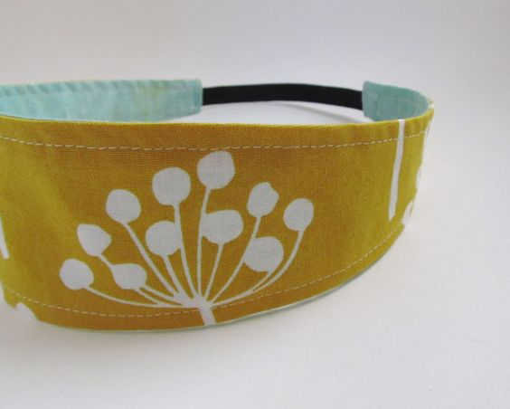 Handmade Reversible Cotton Headband Dandelion Seed