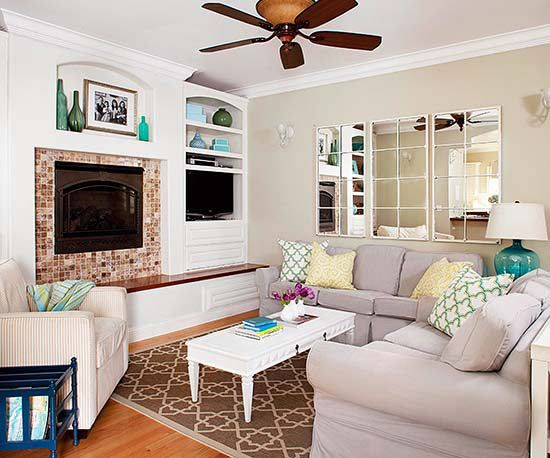 declutter in less time fireplaces small rooms and one by one. Black Bedroom Furniture Sets. Home Design Ideas