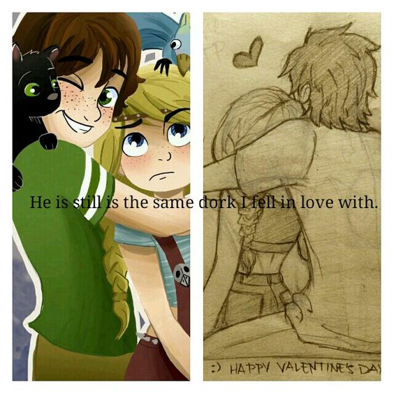 """""""He is still the same dork I fell in love with."""" ♡Hiccstrid♡"""