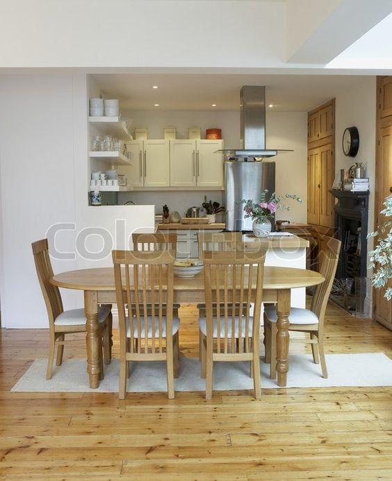stock image empty kitchen dining room open floor plan making luxury