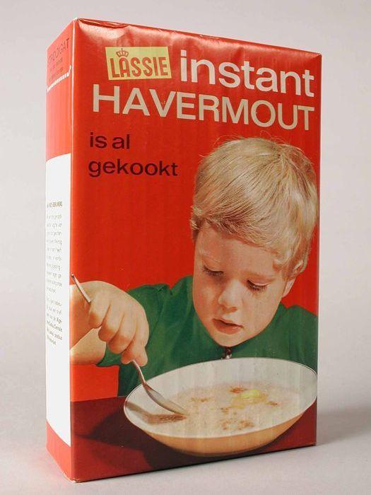 "Rood pak ""LASSIE"" instant havermout - Havermout met roomboter en basterdsuiker"