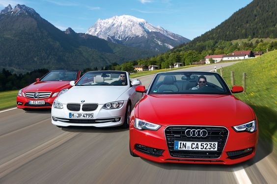 Testing the new Mercedes E-class, Audi A5 and BMW 335i