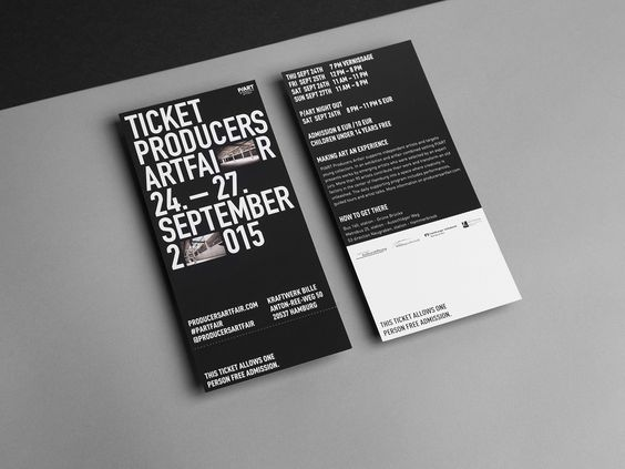 p\/art entrance ticket entrance ticket Pinterest Flyers - concert tickets design