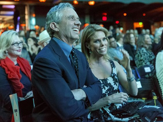 President of the Board of the Waterkeeper Alliance Robert F. Kennedy Jr. and his wife, actress Cheryl Hines, enjoy the show.  Rich Polk, Getty Images for Waterkeeper Alliance
