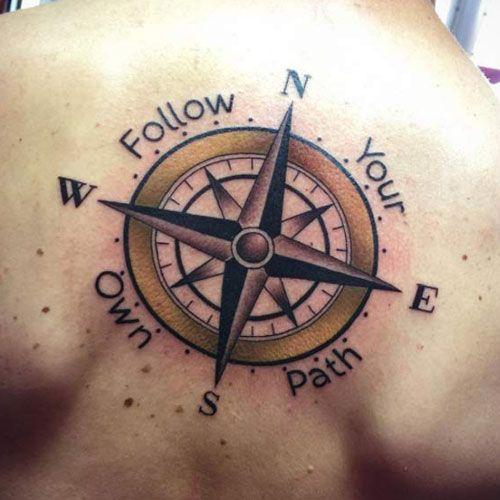 125 Best Compass Tattoos For Men Cool Design Ideas 2020 Simple Compass Tattoo Compass Tattoo Compass Tattoo Men