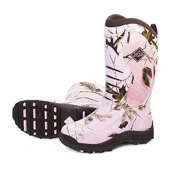 Pink camo Camo boots and Muck boots on Pinterest