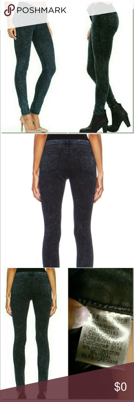 "{Rag & Bone} Rosebowl Jean Rag & Bone Super Stretch High Waist Jegging Jean.                                                             Details & Care Pliant stretch cotton sculpts a pair of super-svelte faded black skinnies styled with a vintage-sleek high-rise waist. 30"" inseam; 10"" leg opening; 11"" front rise; 14"" back rise (size 29). Zip fly with button closure. Faux front pockets; coin pocket; back patch pockets. 60% cotton, 35% modal, 5% polyurethane. Machine wash cold, dry flat. rag…"