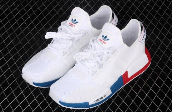 Adidas Nmd R1 Boost V2 White Blue Red In 2020