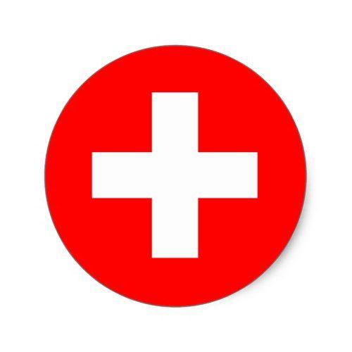 Switzerland Flag Sticker Zazzle Com Switzerland Flag Red Cross Swiss Flag