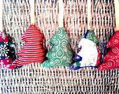 Fabric Christmas Tree Ornaments